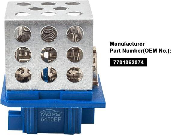 YAOPEI Resistencia del Ventilador del Motor del Soplador 1311115 ...