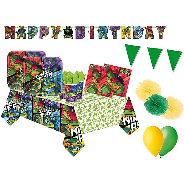 Irpot Kit 46 F Fiesta de cumpleaños Tortugas Ninja: Amazon ...