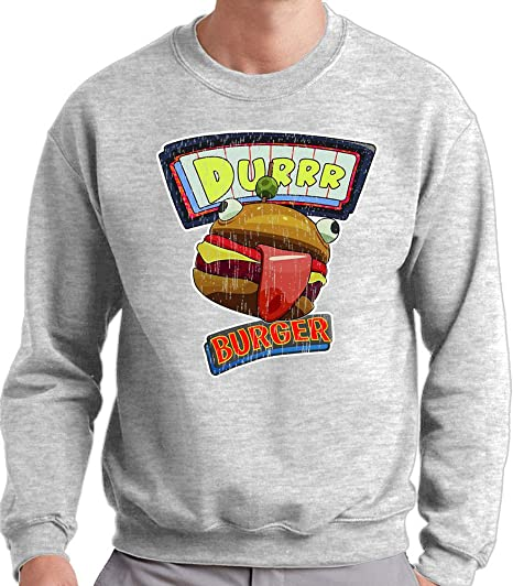 Mx Games Sudadera Fortnite Durr Burger de Cuello Redondo (Todas Las Tallas Disponibles) (