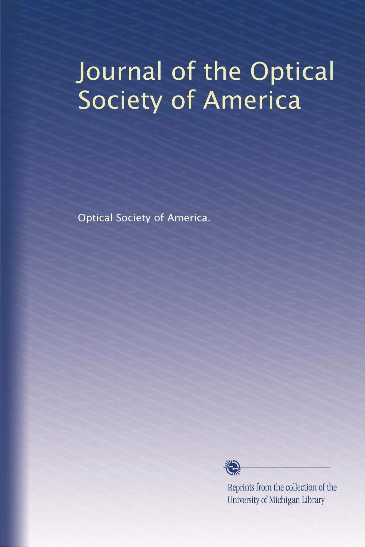 Download Journal of the Optical Society of America pdf