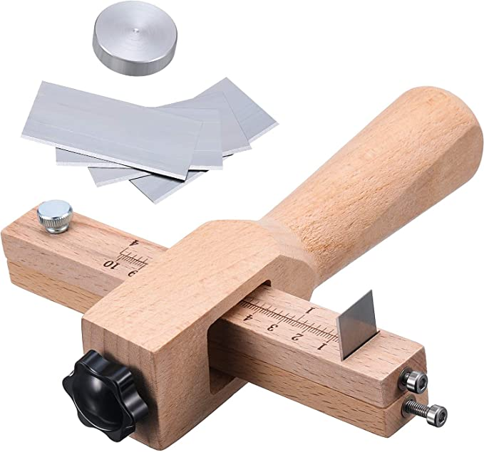 Jovitec Strip and Strap Cutter Leather DIY Hand Cutting Tool Adjustable with Blades Leather Craft Tool Strap Cutter at Kapruka Online for specialGifts