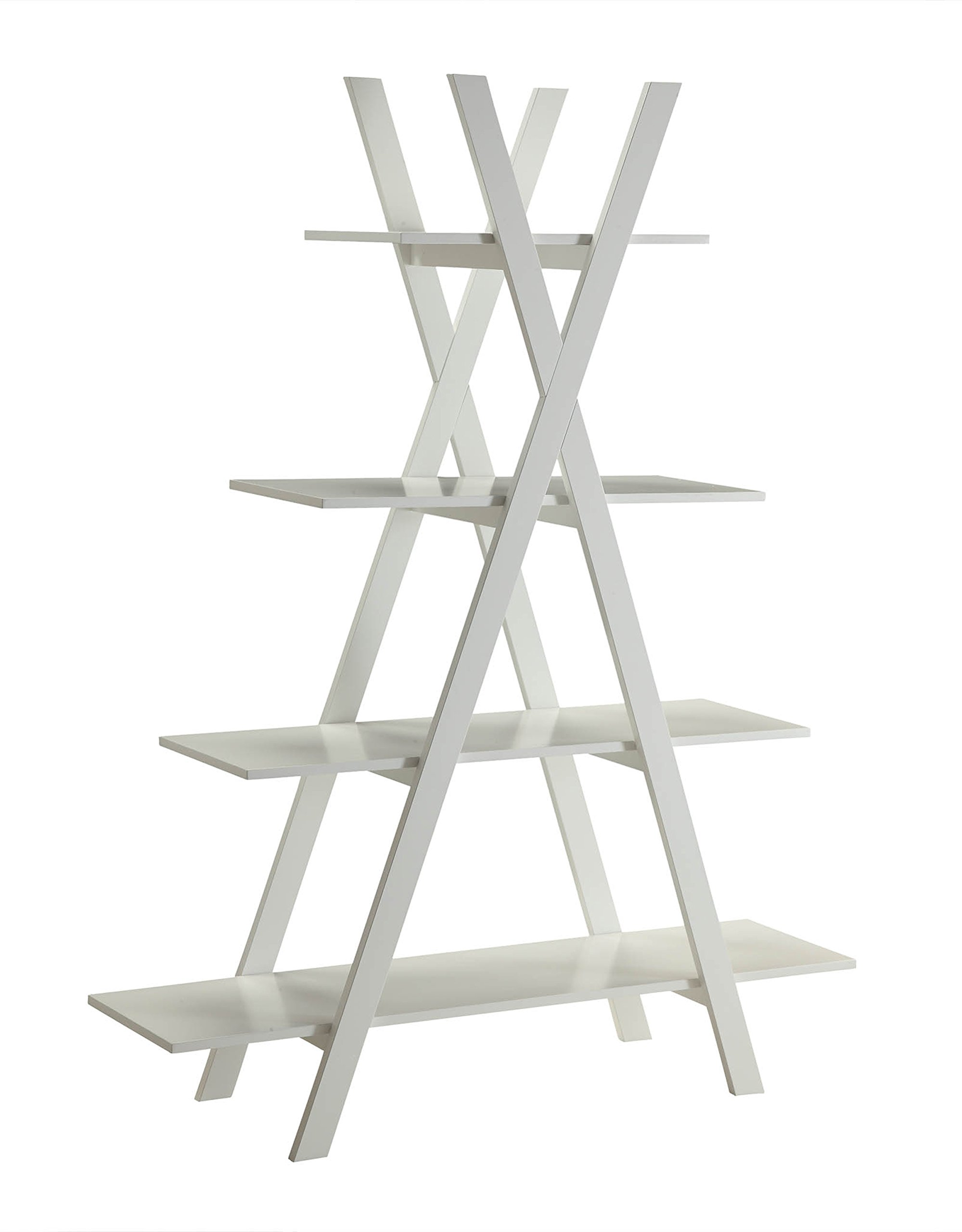 Convenience Concepts Oxford ''A'' Frame Bookshelf, White by Convenience Concepts (Image #3)