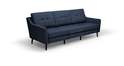 Merveilleux Burrow: The Luxury Couch For Real People. Navy Blue Three Seater Sofa With