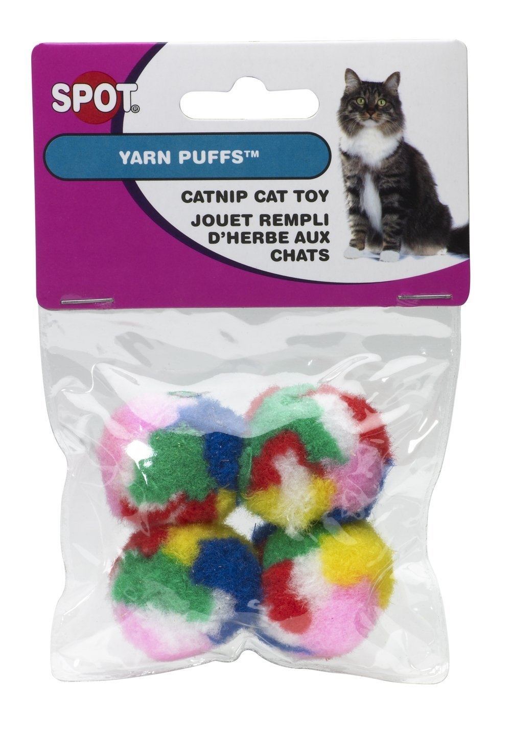 Ethical Kitty Yarn Puffs Cat Toys 4 Small Balls