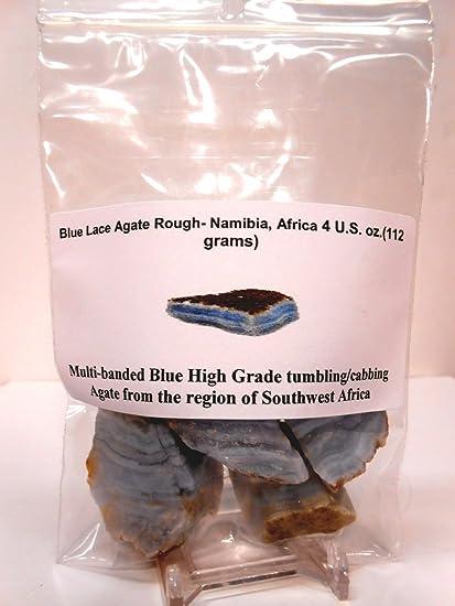 Mexico Blue Quartz Rough Rockhounds 1st Choice Rock Tumbler Gem Refill Kit 8oz Rockhound/'s 1st Choice