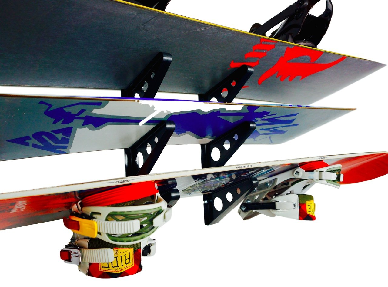 StoreYourBoard Snowboard Multi Wall Rack | Home Storage & Organization Horizontal Mount by StoreYourBoard