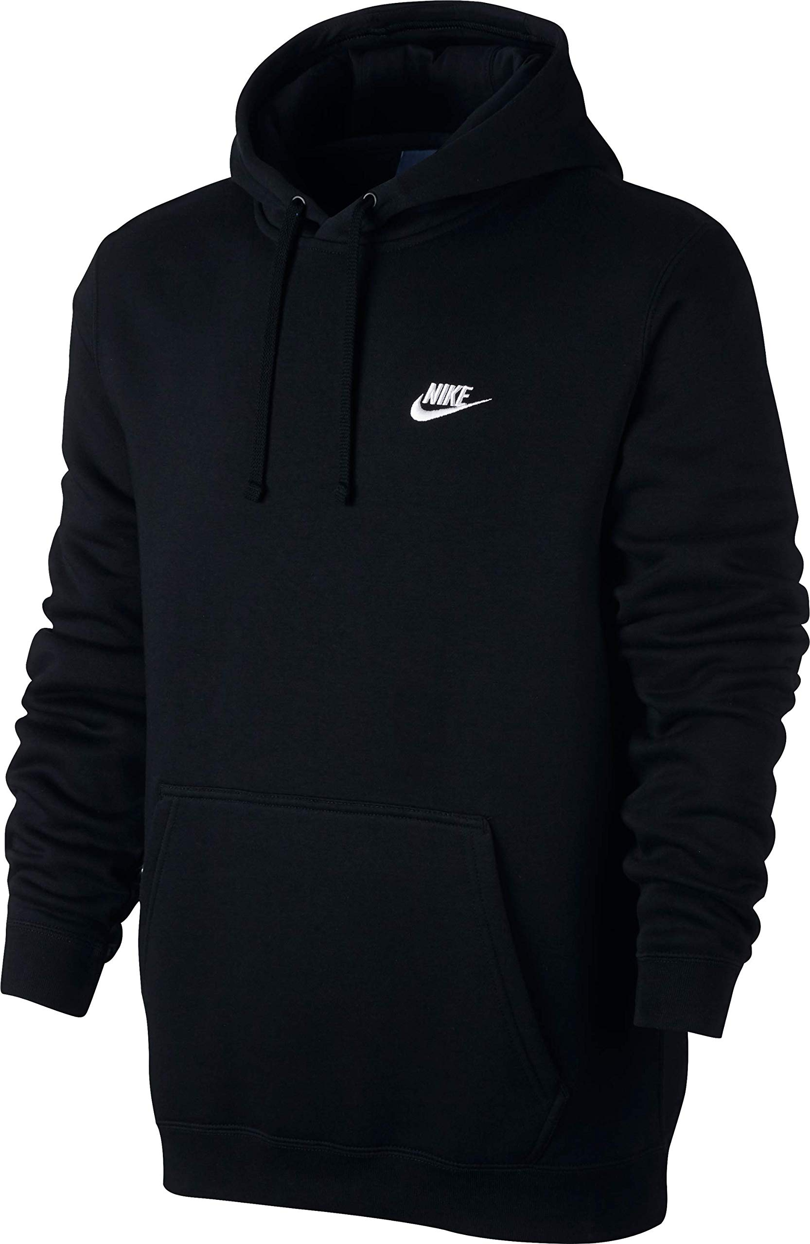 e57687cd Galleon - NIKE Sportswear Men's Pullover Club Hoodie, Black/Black/White, X- Large