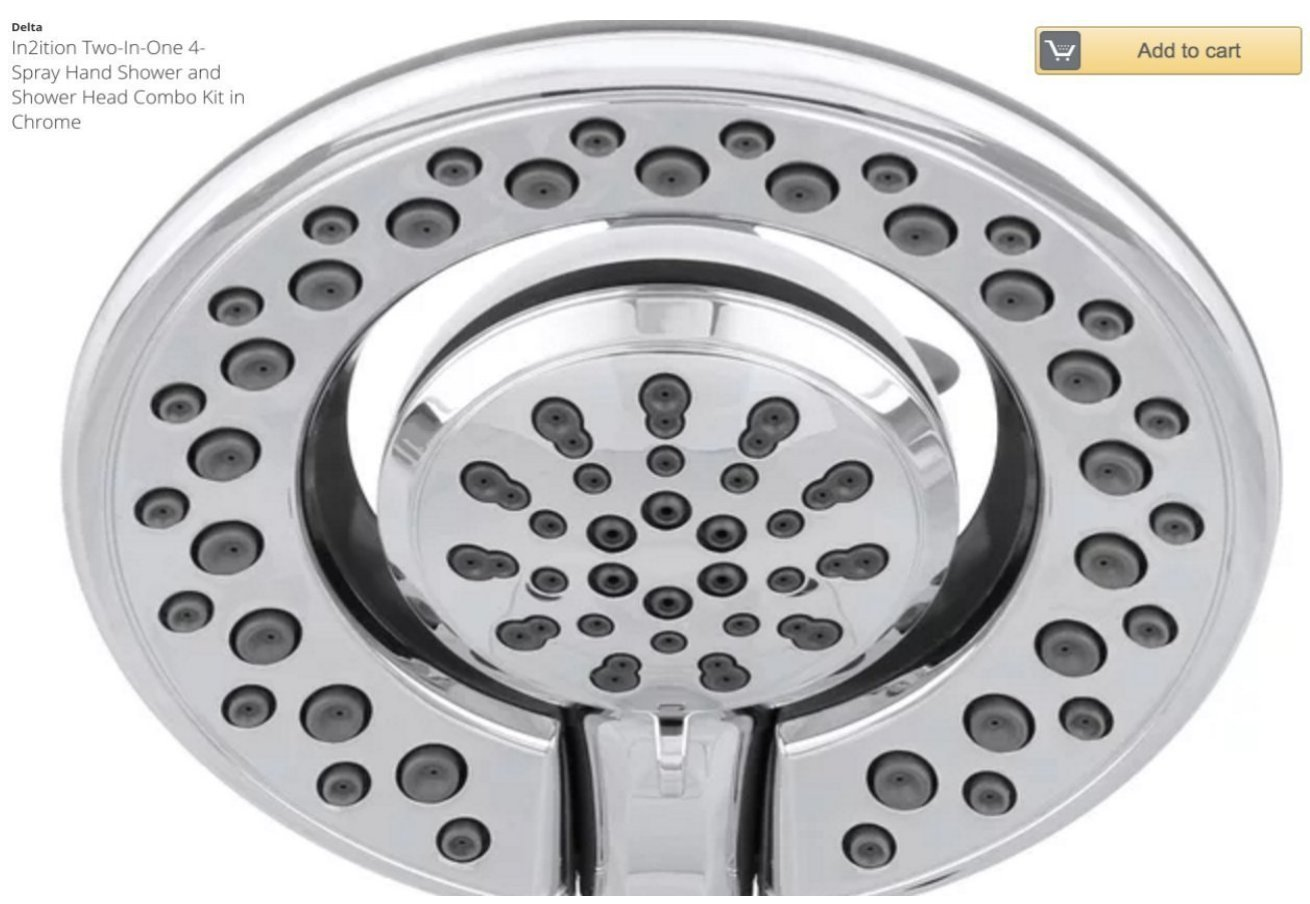 In2ition Two-In-One 4-Spray Hand Shower and Shower Head Combo Kit in ...