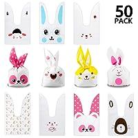 Yosemy Sacchetti compleanno, Sacchetto per Caramella Confetti Borsa di Regalo Sacchetto Coniglietto di Forma del Coniglio Sacchetti di Biscotto (50pcs)