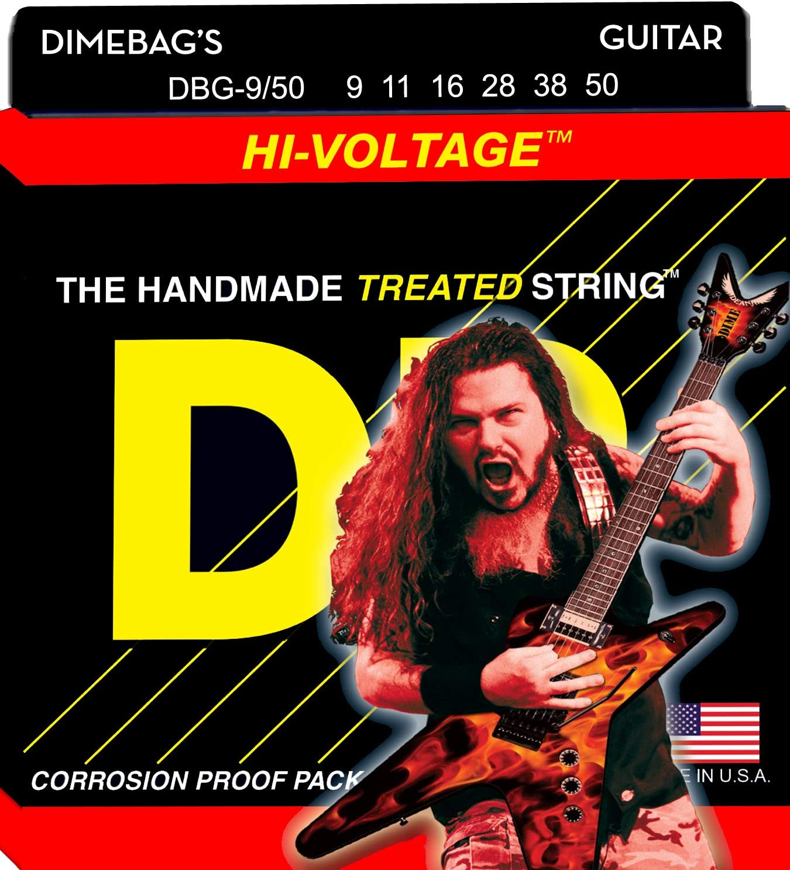 DR Guitar Strings 3 Sets Electric Dimebags Hi-Voltage 09-50
