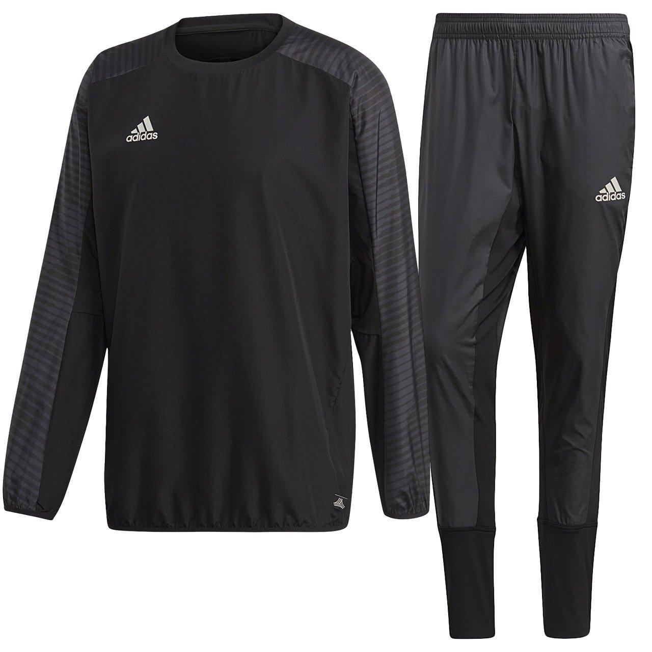 アディダス(adidas) TANGO CAGE ウィンドピステトップ & パンツ 上下セット(ブラック/ブラック) EAX32-CD8282-EAX33-CG1820 B079K54XR1 日本 J/S-(日本サイズS相当)|ブラック/ブラック ブラック/ブラック 日本 J/S-(日本サイズS相当)