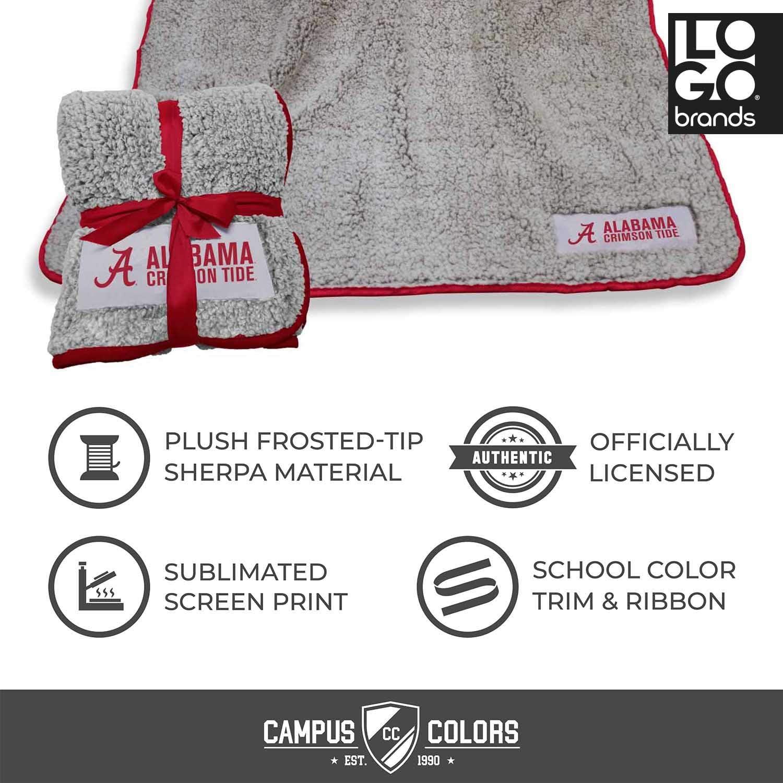 Logo NCAA Frosty Fleece 60 X 50 Blanket Multiple Teams