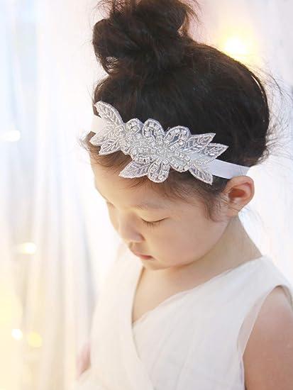 Amazon.com   Missgrace Crystal Flower Girl Headband Wedding Hair Accessories -Rhinestone Jewelry Headdress   Everything Else 2611c86f926d