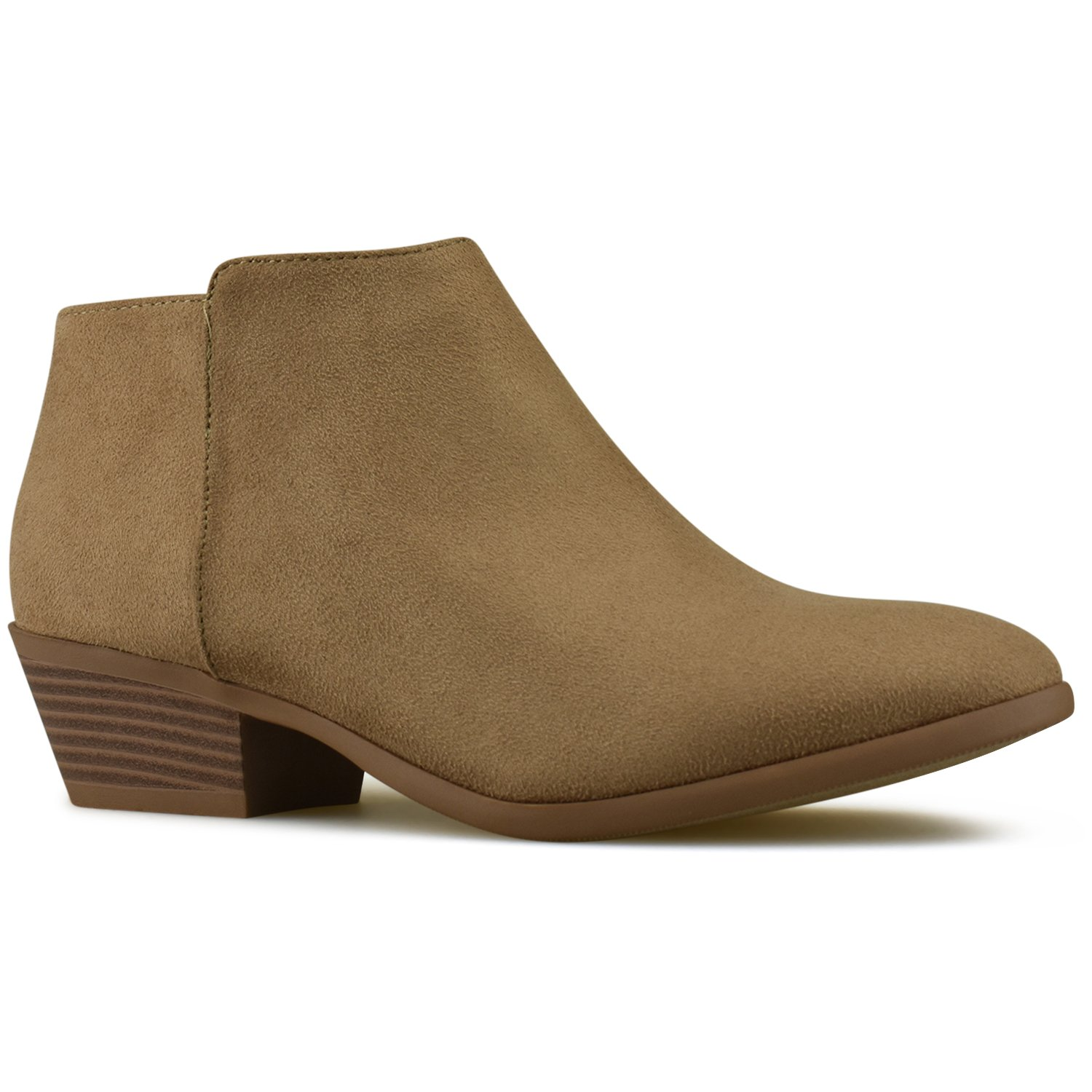 check out 183b0 55021 Premier Standard Women s Round Toe Toe Toe Faux Suede Stacked Heel Western  Ankle Bootie B07DP93NXP Boots