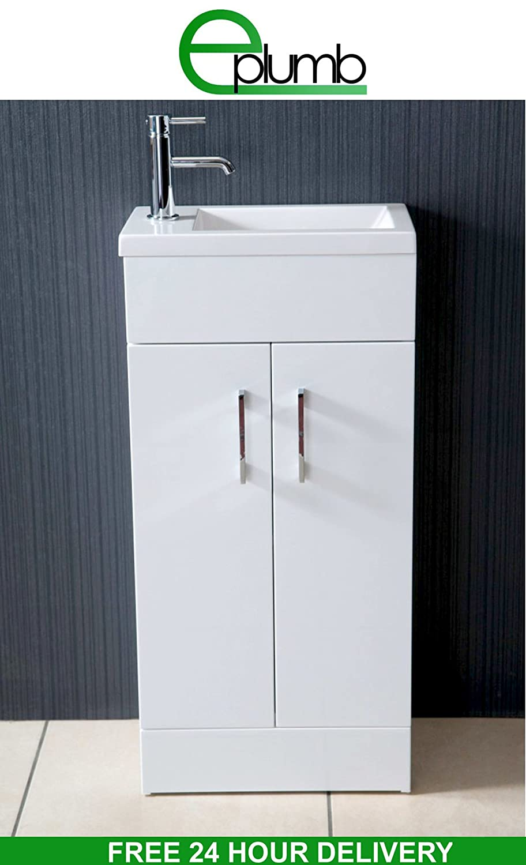 Waschbecken rechteckig mit unterschrank  E-Plumb Waschbecken mit Unterschrank, kompakt, rechteckig, für ...