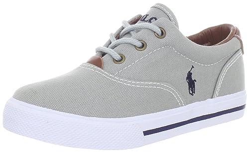 Polo Ralph Lauren Vaughn Vaughn - K - Zapatillas de Deporte de Lona para niño, Color Gris, Talla 31: Amazon.es: Zapatos y complementos