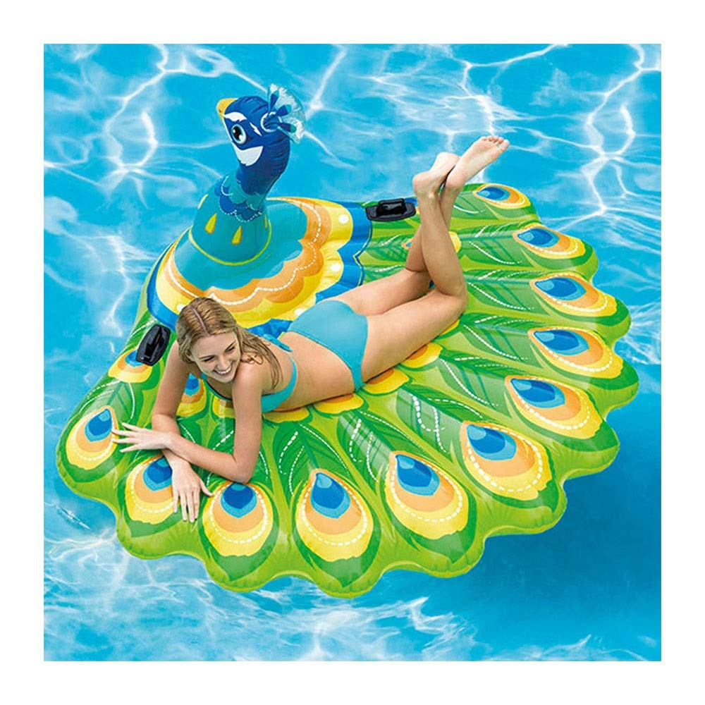 LYQZ Children's Adult Water Riding Swimming Ring Toy Floating Row seat Inflatable Floating Bed (Color : C)