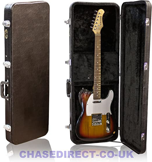 Farida por Chase guitarra eléctrica carcasa rígida para SG o Tele Telecaster estilo Slim: Amazon.es: Instrumentos musicales