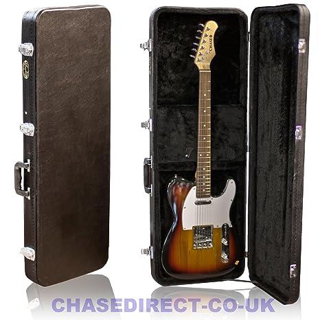 Farida por Chase guitarra eléctrica carcasa rígida para SG o Tele ...