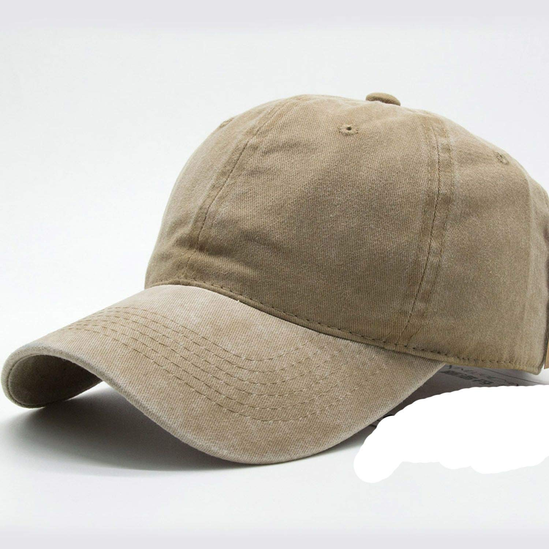 6d509adfe259 peals Casual Men Cotton Solid Baseball Cap Women Baseball Hat Girl  Adjustable Caps, Khaki, Adjustable at Amazon Men's Clothing store: