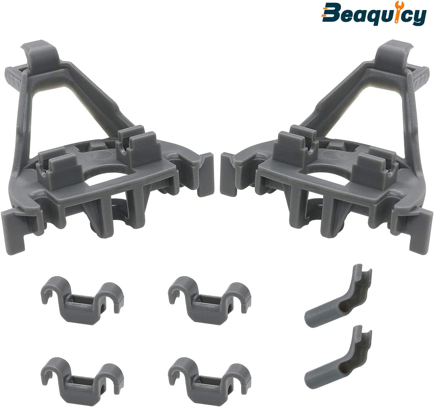 Beaquicy 00428344 Dishwasher Bearing Lower Rack Flip Tine Row Pivot Clips - Replacement for Bosch & Thermador & Kenmore Dishwasher