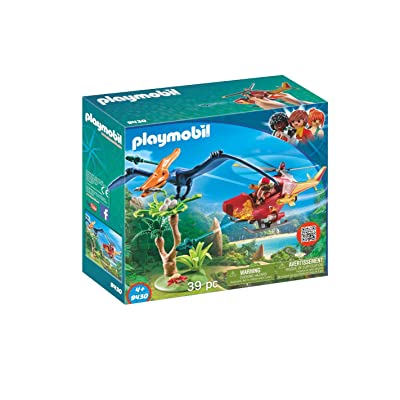 PLAYMOBIL Adventure Copter with Pterodactyl Building Set: Toys & Games