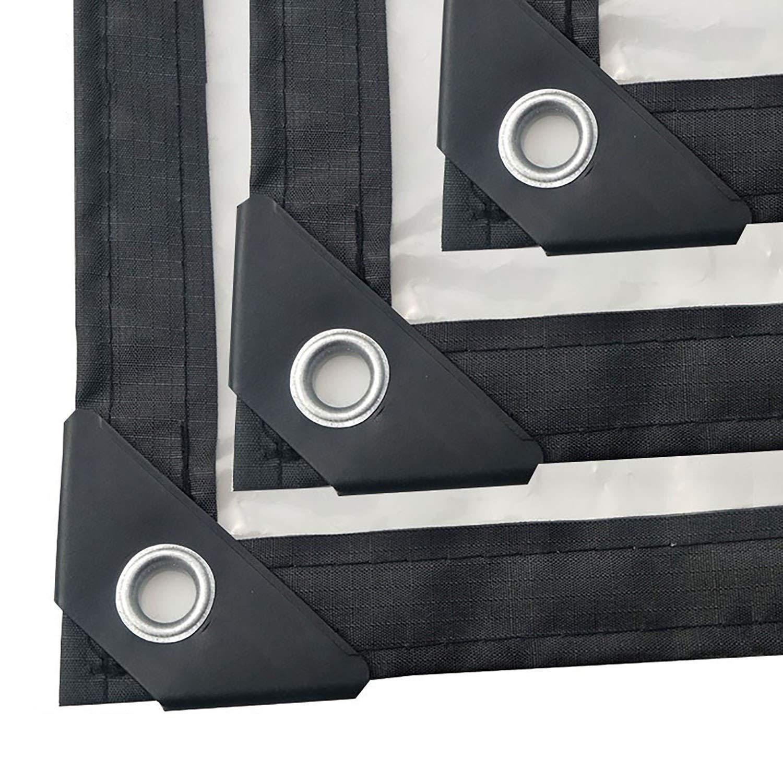 防雨防水シート 透明で明確な防水シート防水シート、PEパーゴラキャノピーサンメッシュ防水シートカバー強化エッジ屋外リバーシブル (Color : Clear, Size : 2x10m/6x30ft) B07SVCBB3W Clear 2x10m/6x30ft