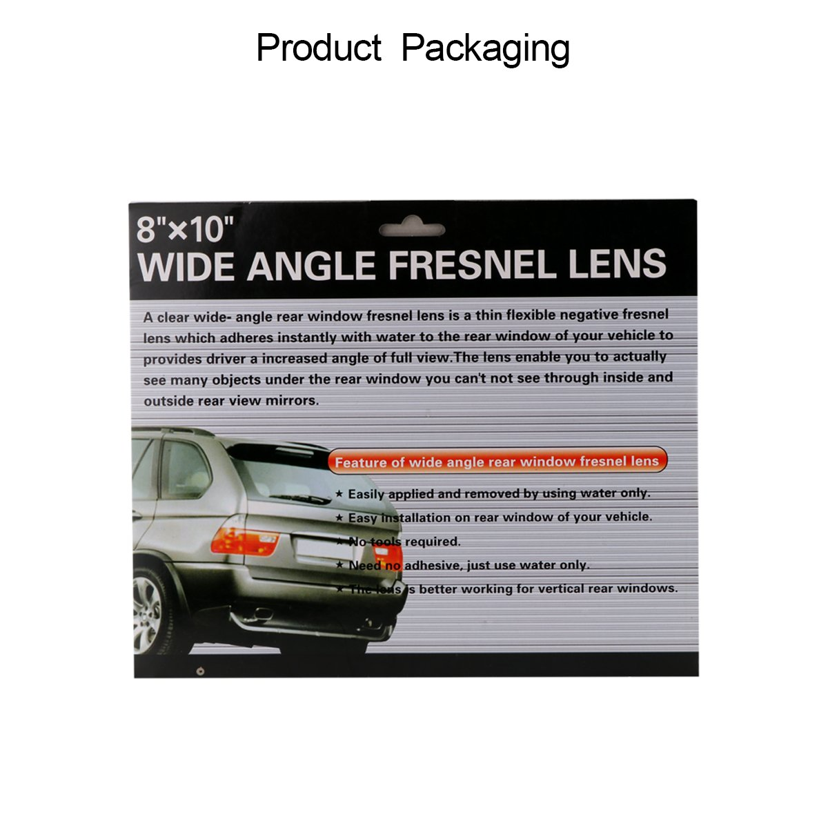 ONEVER 8*10 Wide Angle Auto Fresnel Lens Parking Blind Spot Rear View Lens Reversing Sticker for Car Van SUV