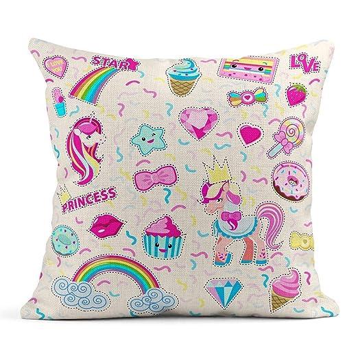 Kinhevao Cojín Recortado para Little Princess Rainbow ...