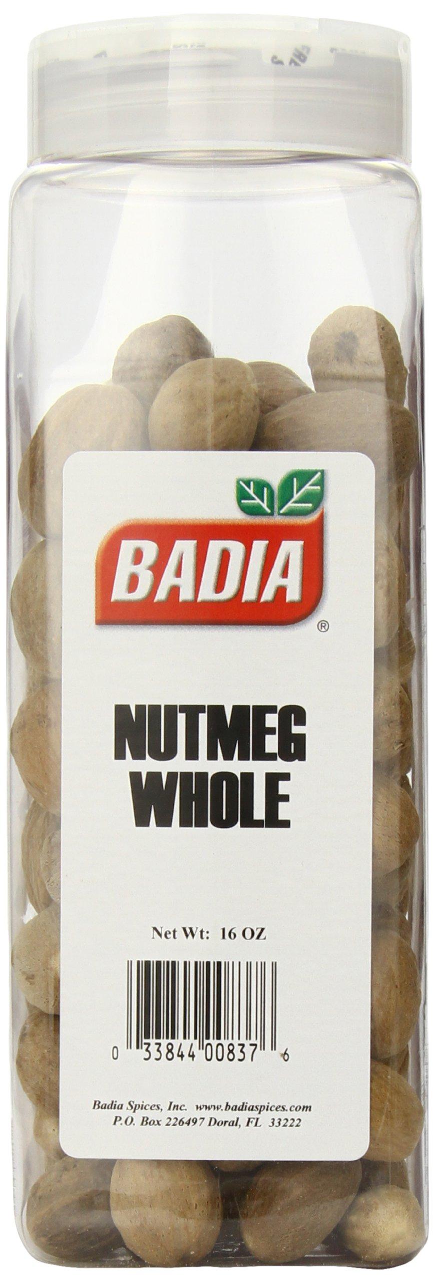 Badia Baking Nutmeg Whole, 16 Ounce