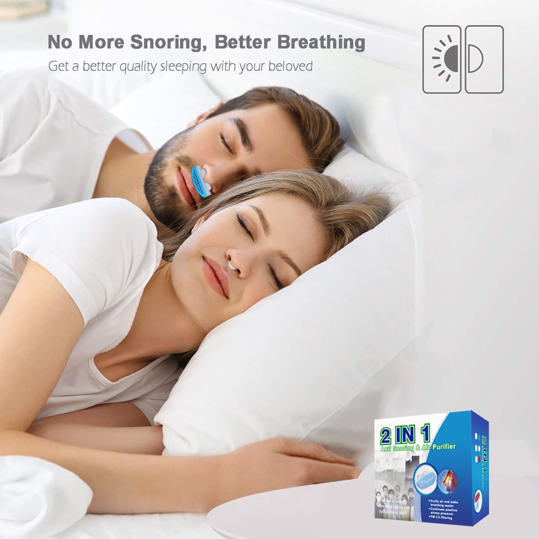 MEXITOP Dilatador Nasal Anti Ronquidos, Ayuda Instantánea para Aliviar Naturalmente los Ronquidos y Mejorar la Respiración, Purificación del Aire, ...