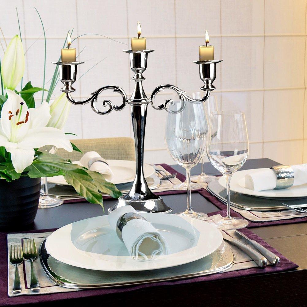dorado metal delaman 3/Candelabro portavelas Europea estilo candelabro boda Home Decor