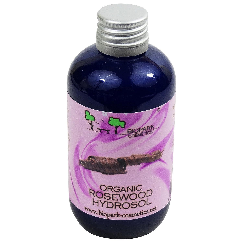 BIOPARK - Hydrolat de Bois de Rose Bio - Egalement pour peaux sensibles et matures - Apaisant et astringent - En cas de vergetures et d'irritations - 100 ml