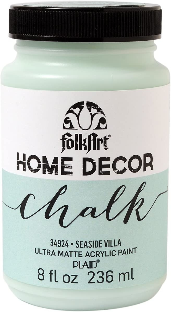 FolkArt 34924 Home Decor Chalk Furniture & Craft Paint in Assorted Colors, 8 ounce, Seaside Villa