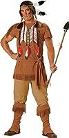 En Costumes de caract-re 186833 guerrier indien Costume - Brown - X-Large