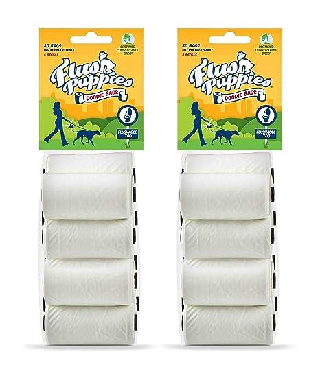 Amazon.com : Flush Puppies Doodie Bags, Flushable & Certified ...