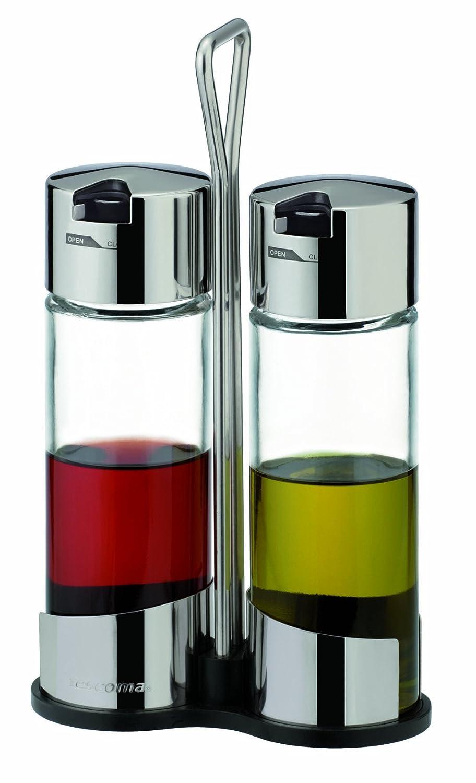 Tescoma Club Color Plateado Juego de aceitera y vinagrera