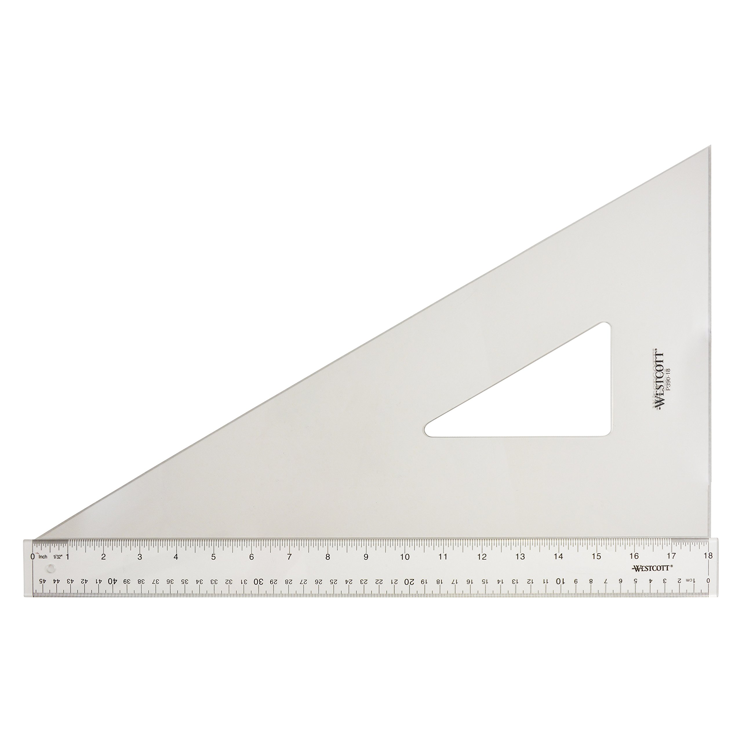 Westcott Professional Triangle, 18'', 30/60 Degree, Transparent (P390-18)