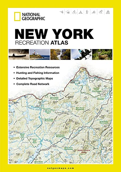 new york recreation atlas national geographic recreation atlas