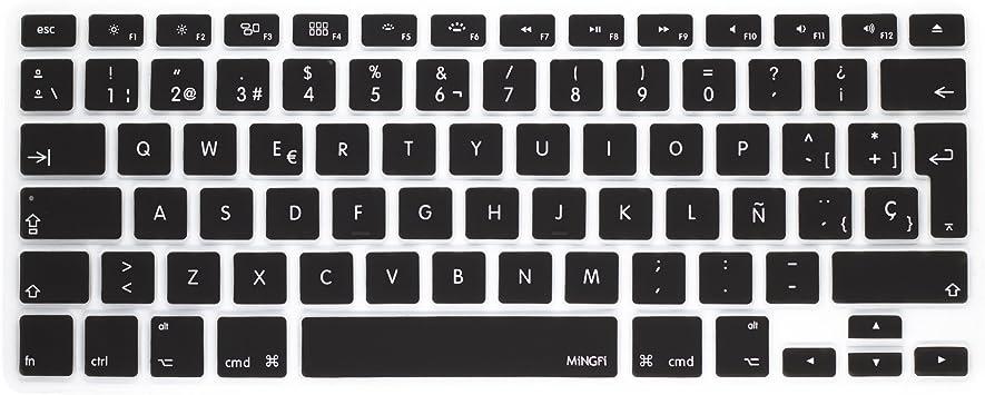 MiNGFi española Cubierta del Teclado/Keyboard Cover para MacBook Pro 13