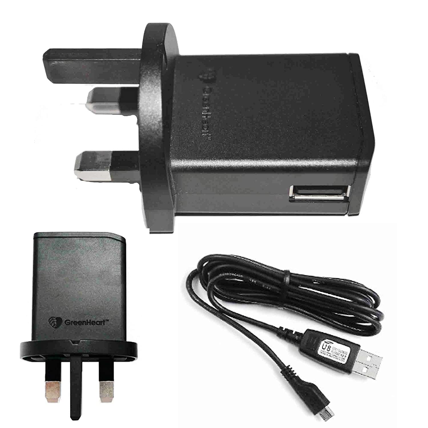 Sony Ericsson Ep800 Mains Charger Wall Adaptor Samsung Micro Usb Data Cable Ec803 Original Electronics
