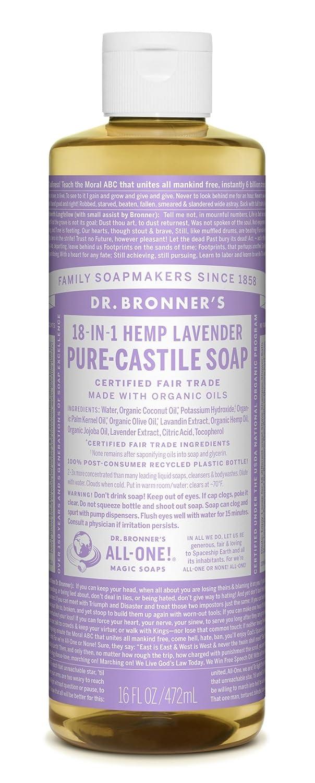 Dr. Bronner's Magic Soap Organic Lavender Oil Pure Castile Soap Liquid, 16-Ounce Dr. Bronner's Magic Soap 767