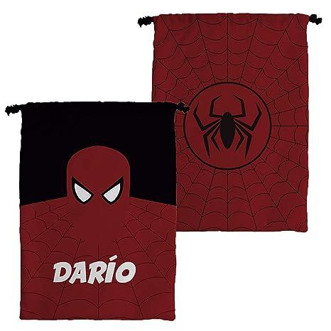 Bolsa Merienda Superhéroes Personalizada con Nombre | Regalo Friki | Vuelta al Cole | Varios Diseños a Elegir | Spiderman