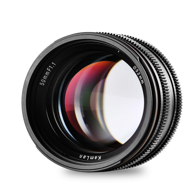 Kamlan 50mm F1.1 APS-C Large Aperture Manual Focus Lens, Standard Prime Lens for Sony E-Mount Mirrorless Camera, Alpha Series and NEX Series by Kamlan
