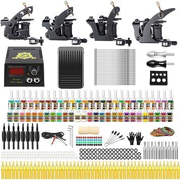 Amazon Solong Tattoo Complete Tattoo Kit 4 Pro Machine Guns 54