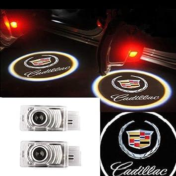Kvch 2 Stück Autotür Projektor Lampe Auto Logo Willkommen Led Geist Leichte Autotür Höflichkeit Schatten Leuchten Für Srx Atsl Xts Ats Mit Türpolsterung Entferner Abbildung 2 Auto