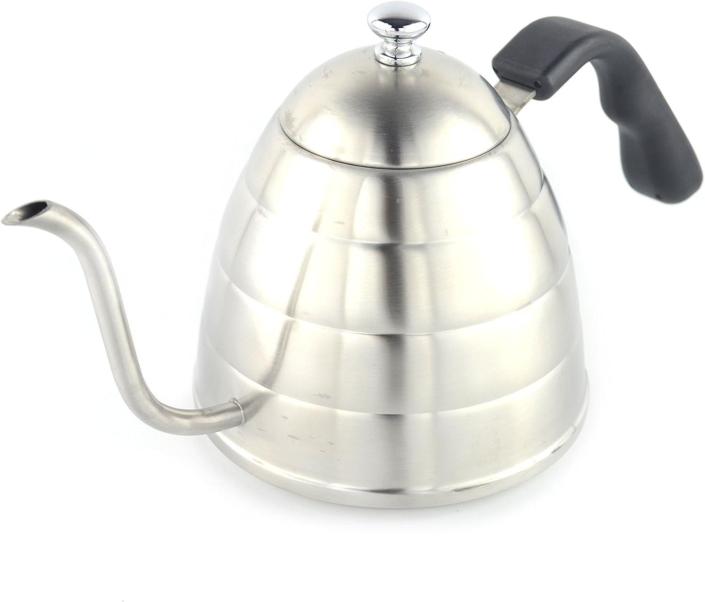 2.4qt Brushed Retro Medium Tea Kettle