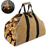 Sac de transport de rondins de bois de chauffage en toile de bois résistant, accessoires pour poêle à bois