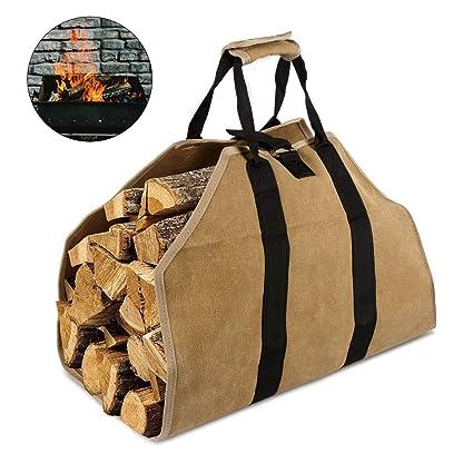 Bolsa de madera de leña para trabajos pesados de Oucles, bolsa de leña, bolsa