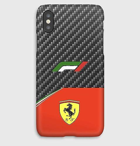 F1 carbon Ferrari Funda para el iPhone XS, XS Max, XR, X,